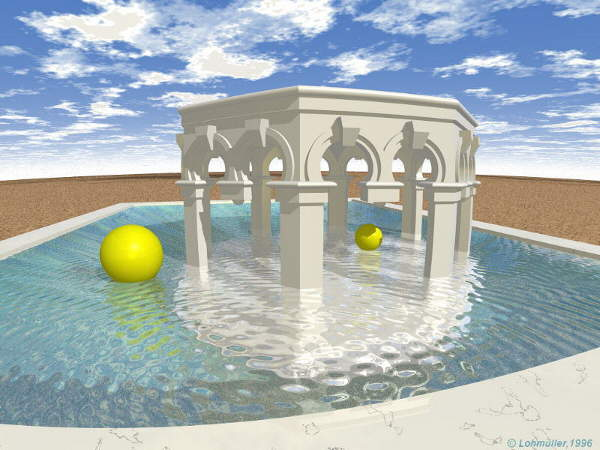 Raytracing Gallery Friedrich A Lohmueller Part 2 1 Pool
