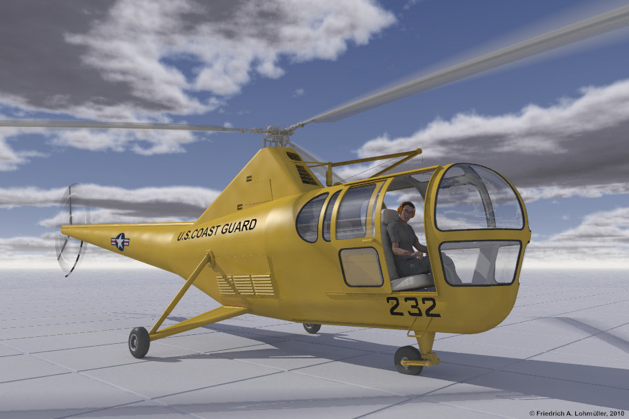 Helicopter Sikorsky S 51 Raytracing Gallery Friedrich A