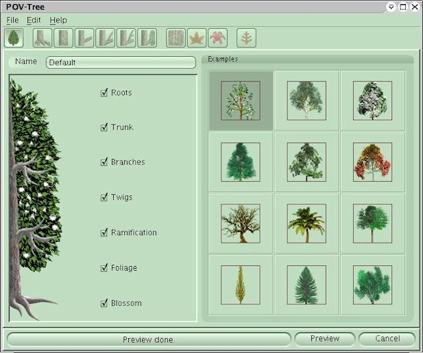 Plants with POV-Ray - trees by POV-Tree and TOMTREE inc